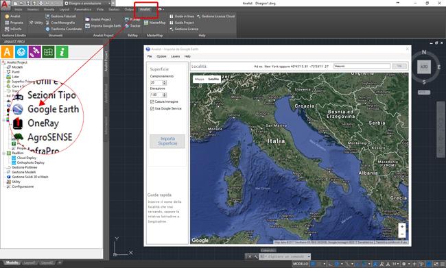 Importa Mappe da Google Earth