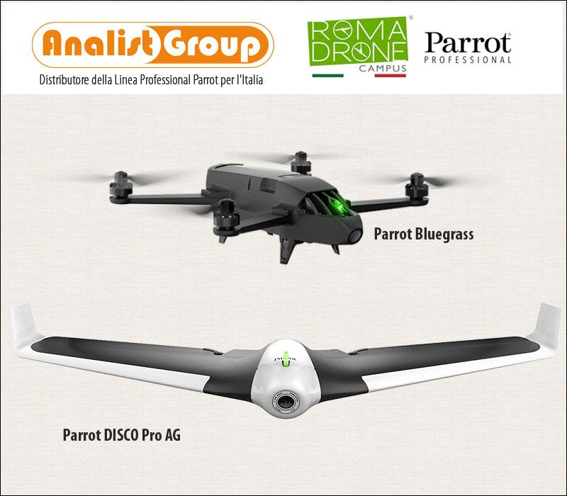 Drone Parrot DISCO Pro AG e Parrot Bluegrass
