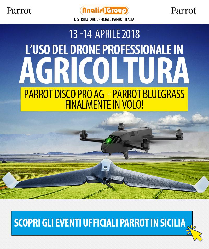 Eventi Droni Professionali Parrot per l'Agricoltura di Precisione in Sicilia