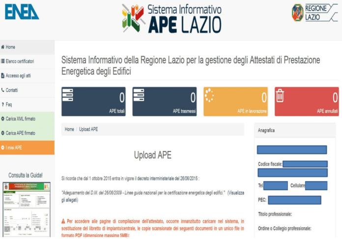 Sistema Informativo APE Lazio