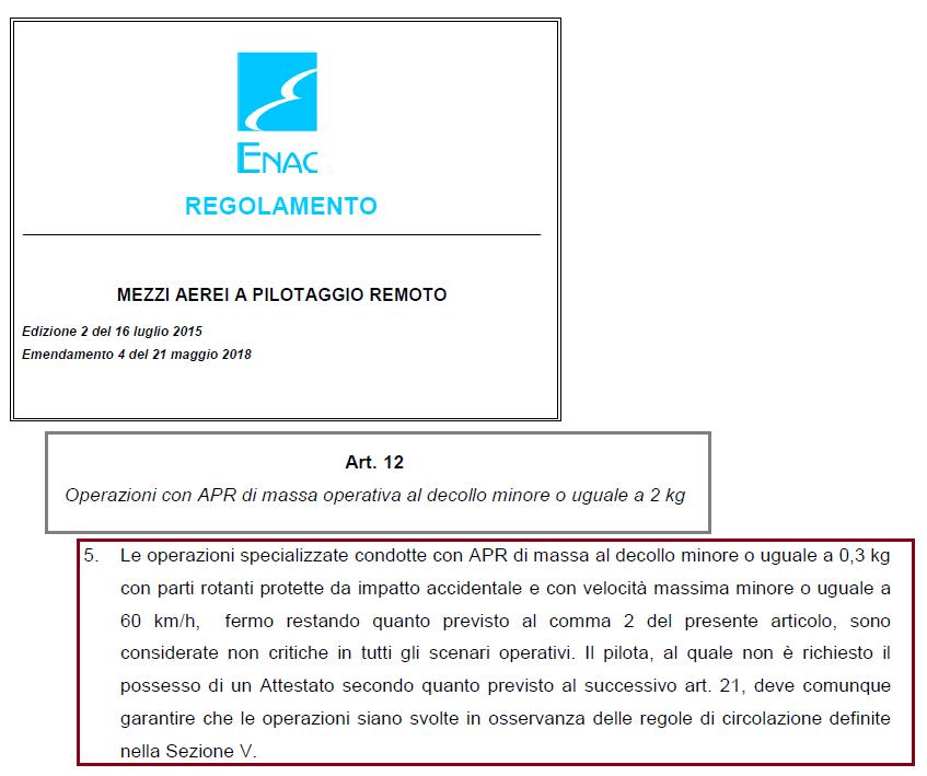 Regolamento ENAC art12