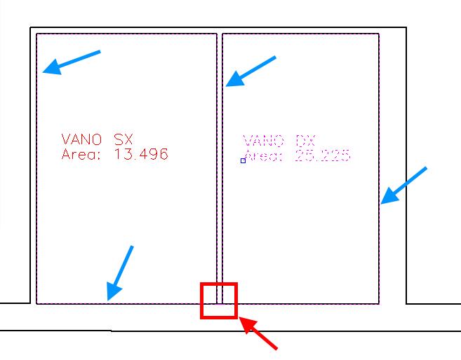 TermiPlan visualizzazione polilinea del vano