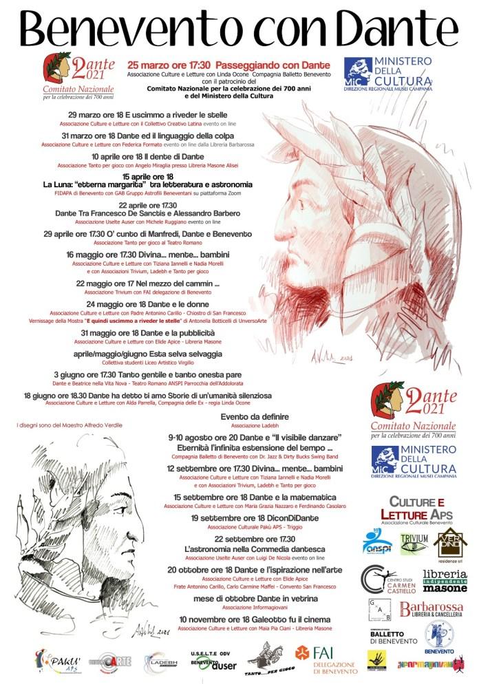 Locandina Dante a Benevento
