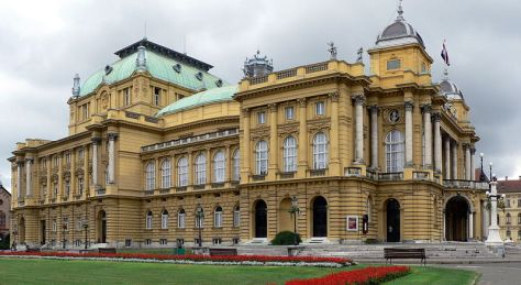 The National Theatre museum adds a little more to the architectural charm of Zagreb.