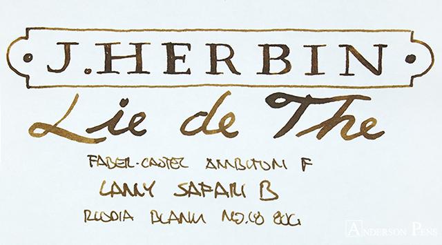 thINKthursday - J Herbin Lie de The