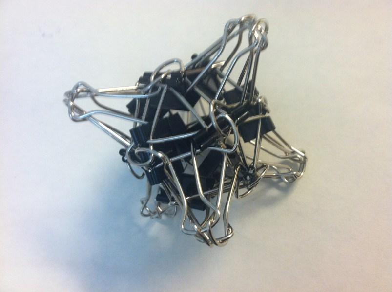 Binder Clip Sculptures Andrea Hawksley