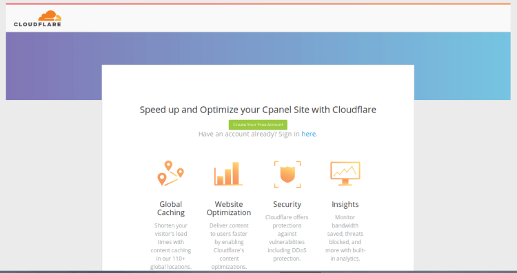 Cloudflare en cPanel