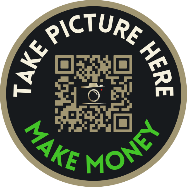Mysterious Stickers began popping up around NYC this weekend reading: Take Picture Here Make Money