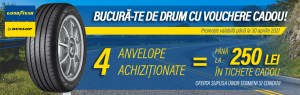 PROMOTIE ANVELOPE VARA si ALL SEASON GOODYEAR-DUNLOP