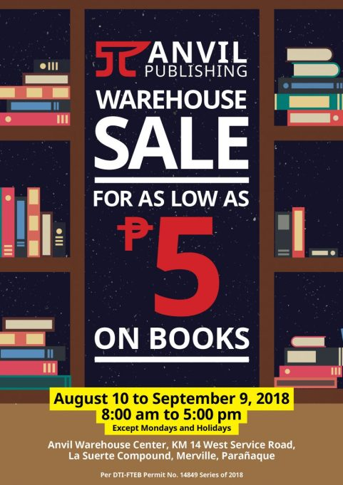 Anvil Publishing Warehouse Sale. For as low as P5.