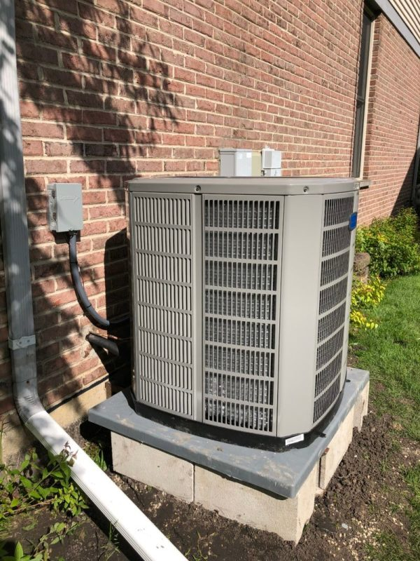 Installing New American Standard 5 Ton Air Conditioner Unit