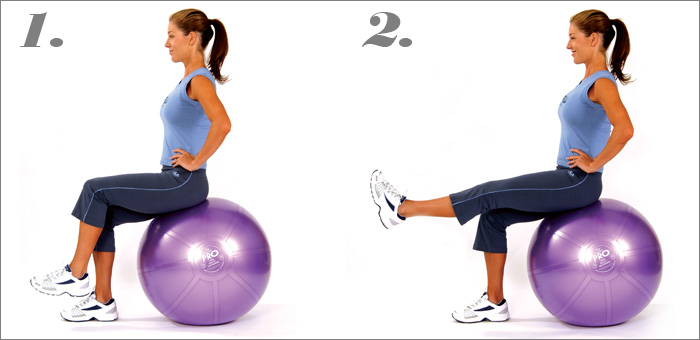 mediBall Exercises – Single Leg Lift