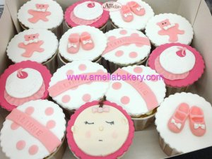Cupcakes Baby Shower personalizados