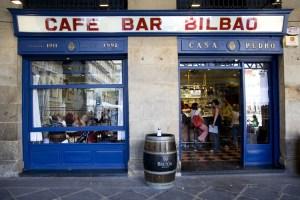 Café Bar Bilbao en La Plaza nueva del Casco Viejo