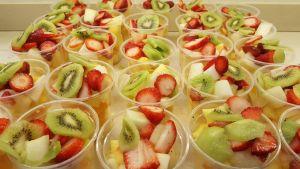 Vasos de Fruta troceada