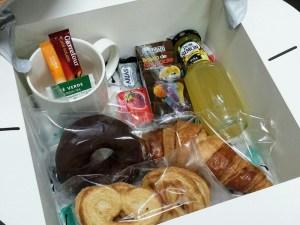 Contenido del desayuno de Cumpleaños