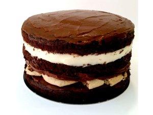 Tarta de Chocolate y Cookies sin gluten y vegana