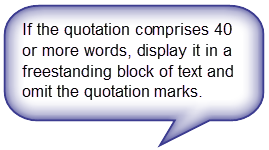 APA Style Blog Block Quotations In APA Style