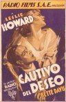 """Cartel promocional """"Cautivo del deseo""""."""