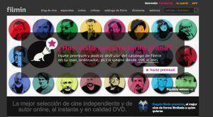 Interfaz de promoción en el sitio web de Filmin.