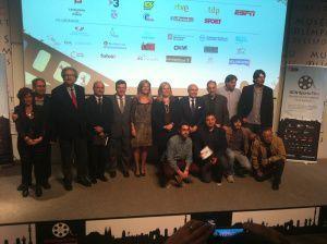 Equipo del BCN Sports Film en el día de inauguración.