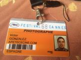 Acreditación fotógrafo Víctor González.