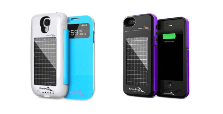 Solar phone case charger