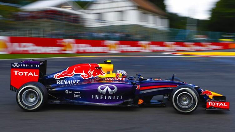 Aussie Daniel Ricciardo in his Red Bull rrace car