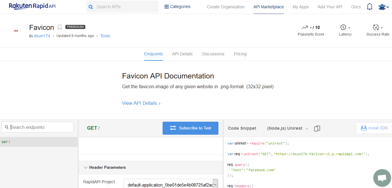 Favicon API Documentation