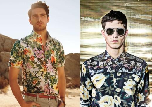 As camisas florais e estampadas estão entrando nos guarda-roupas masculinos 3b301f8fa47