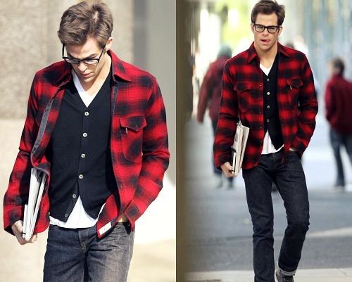camisa-xadrez-vermelha-preta