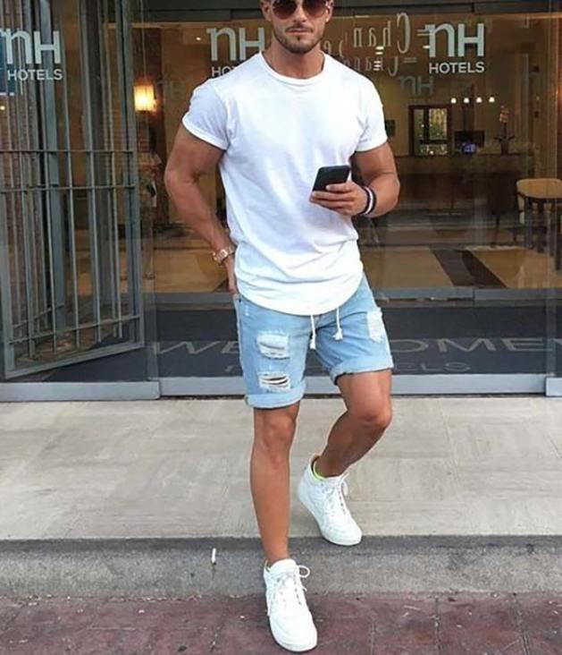 camiseta-branca-masculina-reveillon-2018-bermuda-jeans-tenis-branco