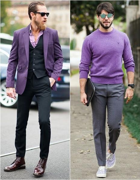 looks street masculinos cor ultra violet