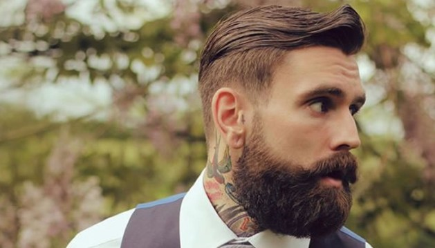 undercut com barba