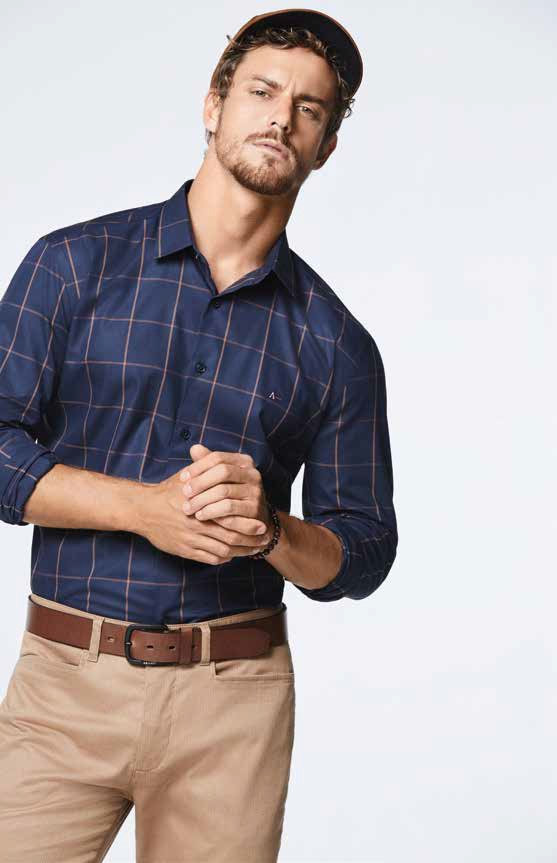 camisa xadrez masculina marinho Aramis