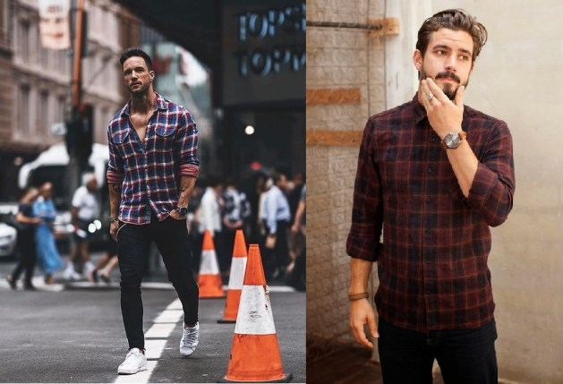 tendencia camisa xadrez masculino