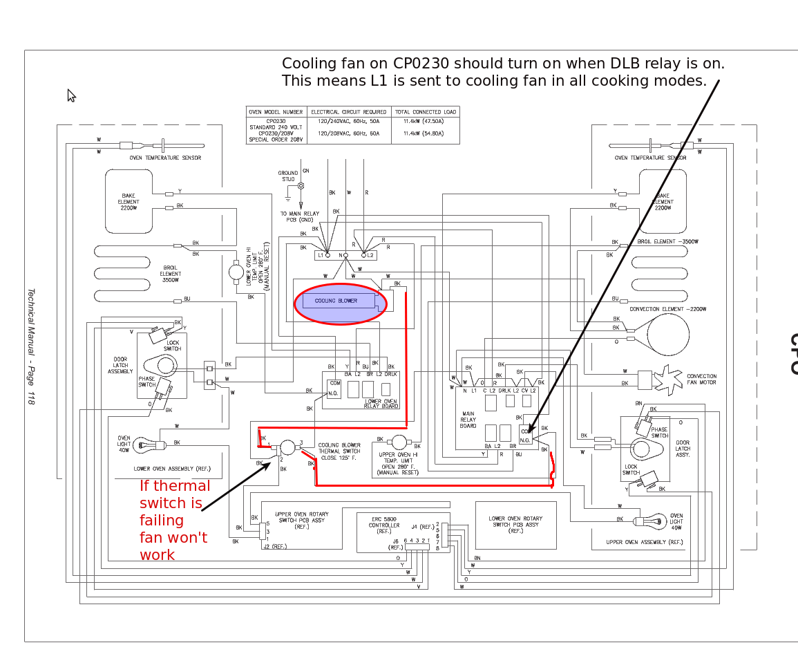 hight resolution of  wiring dacor cpo230wo and cp0130c cooling fan problem and f1 f2 f3 f4
