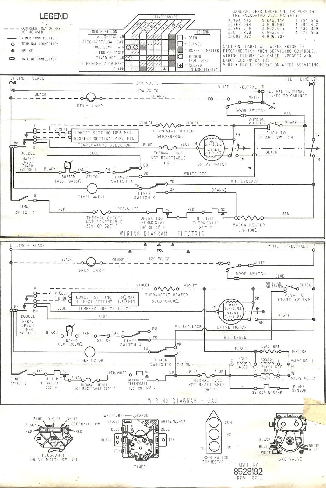 Kenmore Dryer Wiring Diagrams : kenmore, dryer, wiring, diagrams, Appliance, Talk:, Wiring, Diagram, Kenmore, Dryer, Schematic