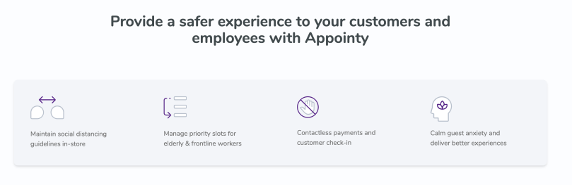 Provide a safer experience to your customers and employees with Appointy