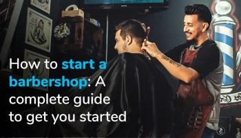 Man getting his hair cut at a barber shop