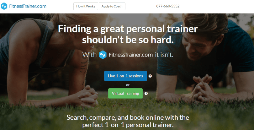 Online marketplace for personal trainers