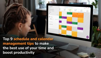 Woman-in-front-of-laptop-looking-at-Appointy-calendar