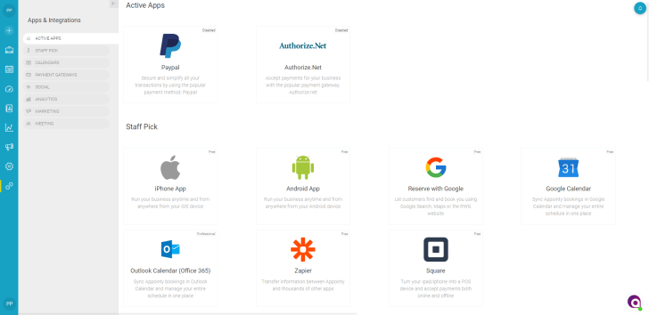 Appointy appstore - business integrations