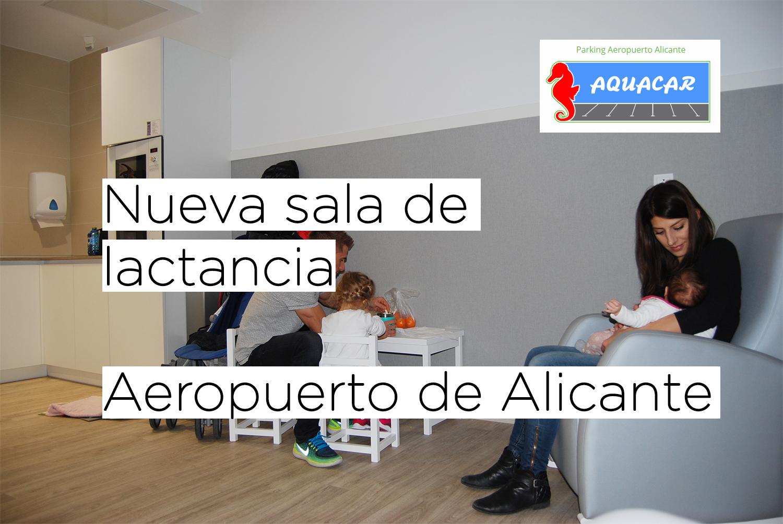 Nueva sala de lactancia y zona de trabajo y recarga de baterías en el aeropuerto de Alicante