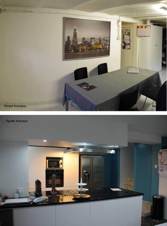 Transformation avant et après les travaux de rénovation de la cuisine Archibien
