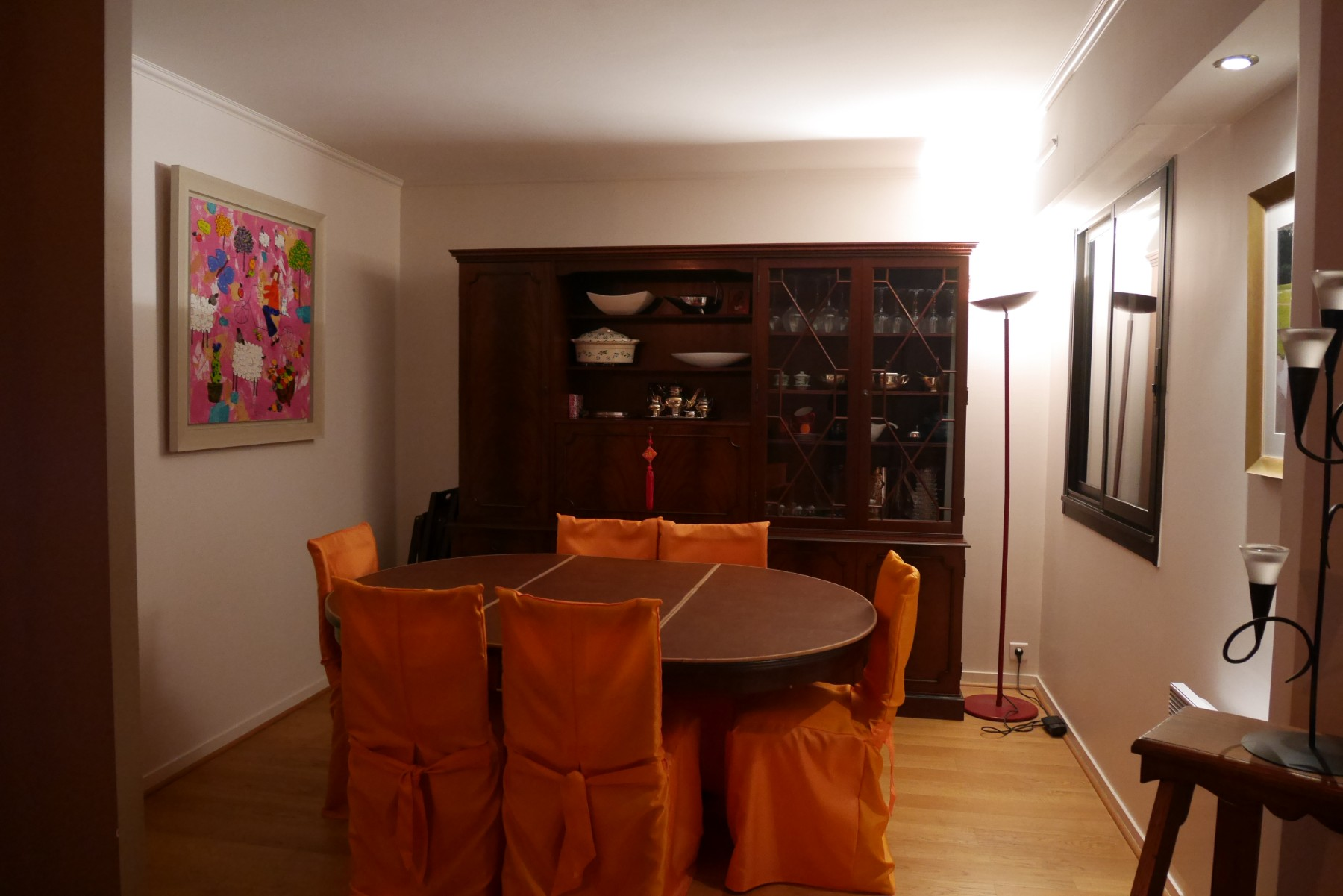 La salle à manger avant les travaux de rénovation par les architectes Archibien