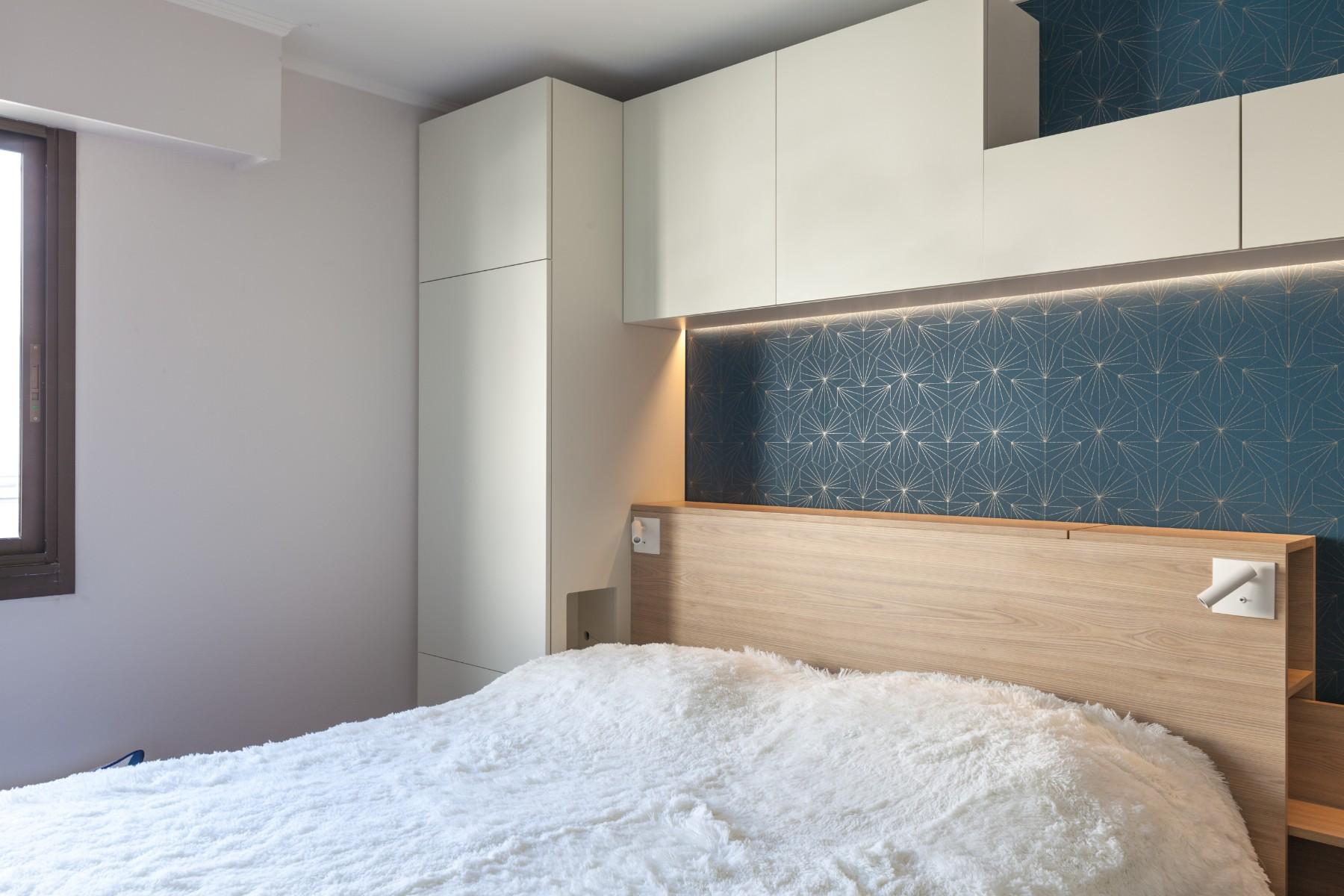 Rénovation d'un appartement dans Paris - la chambre modernisée grâce à Archibien