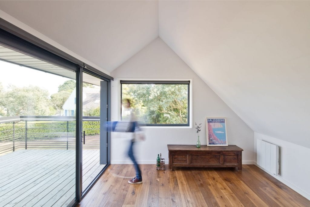 Rénovation et extension d'une maison secondaire projet Archibien terrasse et coin