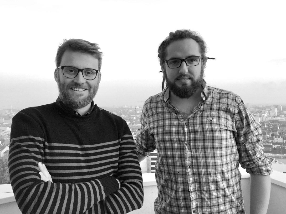 Yann Huet et Stève Castel de l'agence DEAR