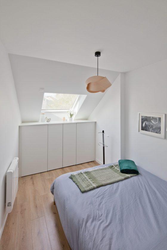 Intérieur chambre appartement duplex